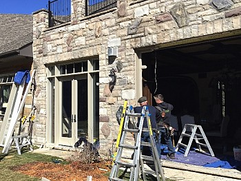 Large vertical window installation project in Oakville with FORHOMES Ltd. contractors
