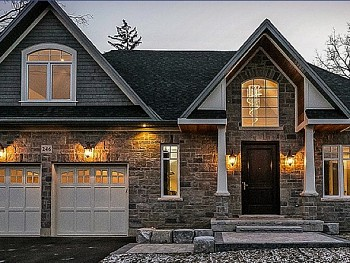 Oakville speciality custom exterior fibreglass door & casement windows.