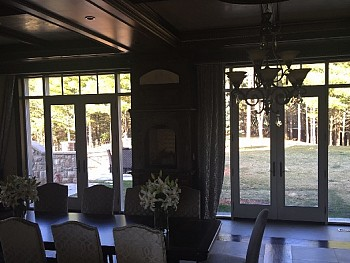 Beautiful installation of custom beige patio doors in Oakville.