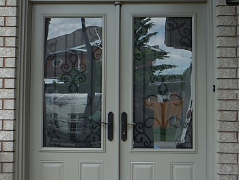 Steel entry doors Caledon in white