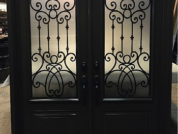 DOUBLE DOOR STEEL WEITH WROUGHT IRON