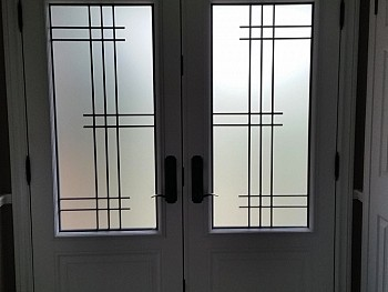 Custom entry doors with grid design  mississauga