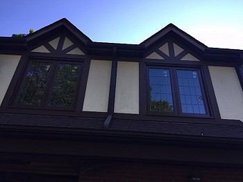 VINYL WINDOWS WITH PEWTER GRILLS