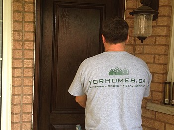 brown stained fiberglass doors oakville