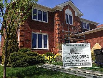 Forhomes custom vinyl replacement windows in Oakville