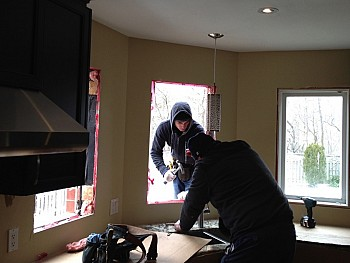 Custom kitchen replacement windows installation Oakville