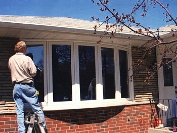 Multi Panel casement windows bow windows exterior