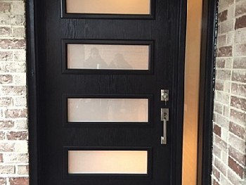 black secure fiberglass door Oakville