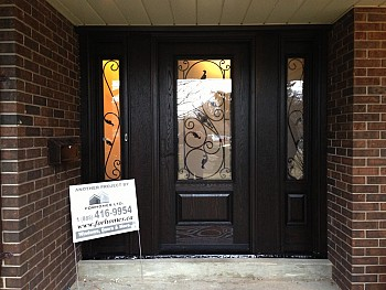 Steel entry door installation Oakville