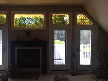 STAIN GLASS AND TRANSOM