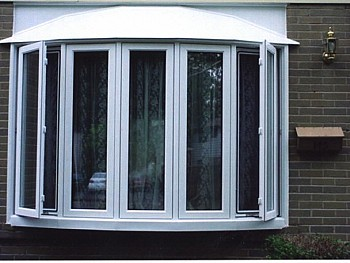 Custom white vinyl bow windows oakville
