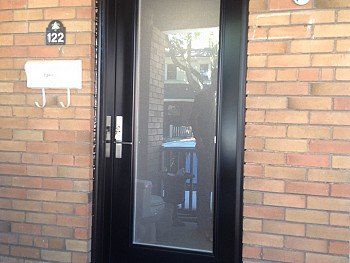 black solid steel door oakville