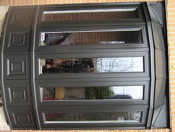 custom painted grey bow windows oakville