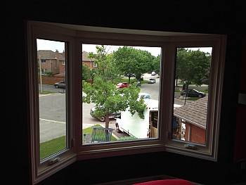 Interior vinyl bay window Oakville forhomes