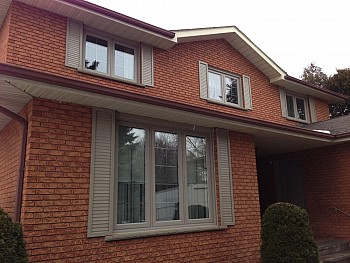 replacement windows with vinyl shutters forhomes Oakvile