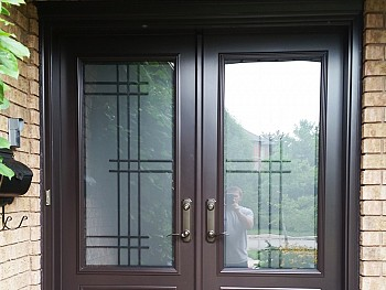 Custom exterior doors with grid design  mississauga