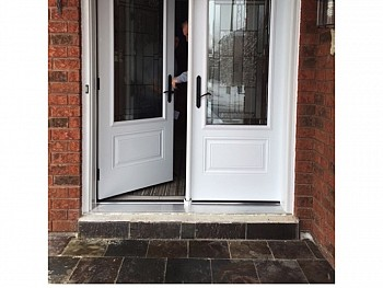 white exterior doors with glass oakville