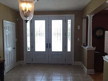 white interior doors with glass oakville