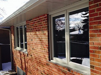 Durable white vinyl custom windows Mississauga
