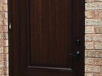 FIBREGLASS DOORS STAINED