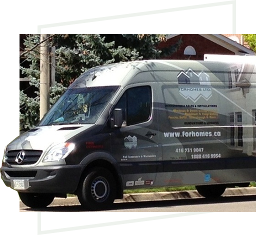 FORHOMES truck delivering custom window & door samples across GTA