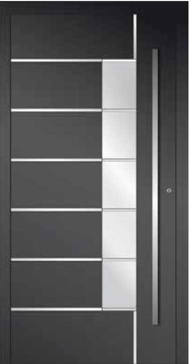 Custom black European entry doors in Mississauga, Toronto & GTA