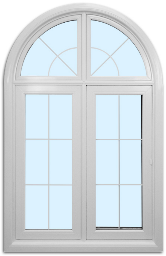 Speciality white custom arch window by FORHOMES Ltd. in Toronto, Mississauga